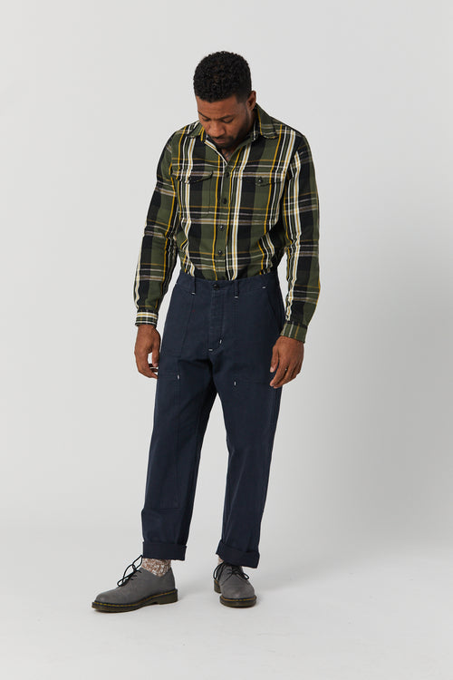 PLANT DOUBLE KNEE PANT IN NAVY - Fortune Goods