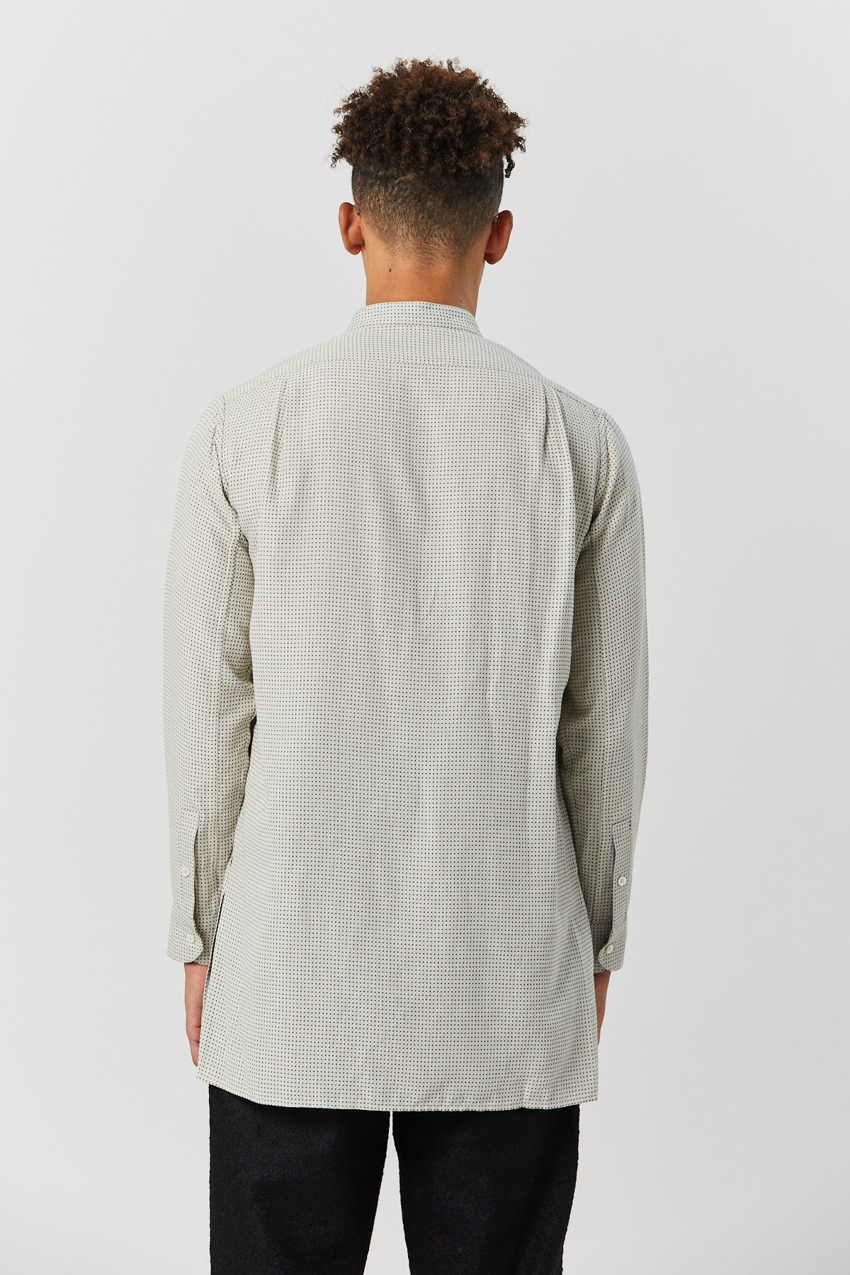 MARTIUS TUNIC IN WHITE CHECK - Fortune Goods