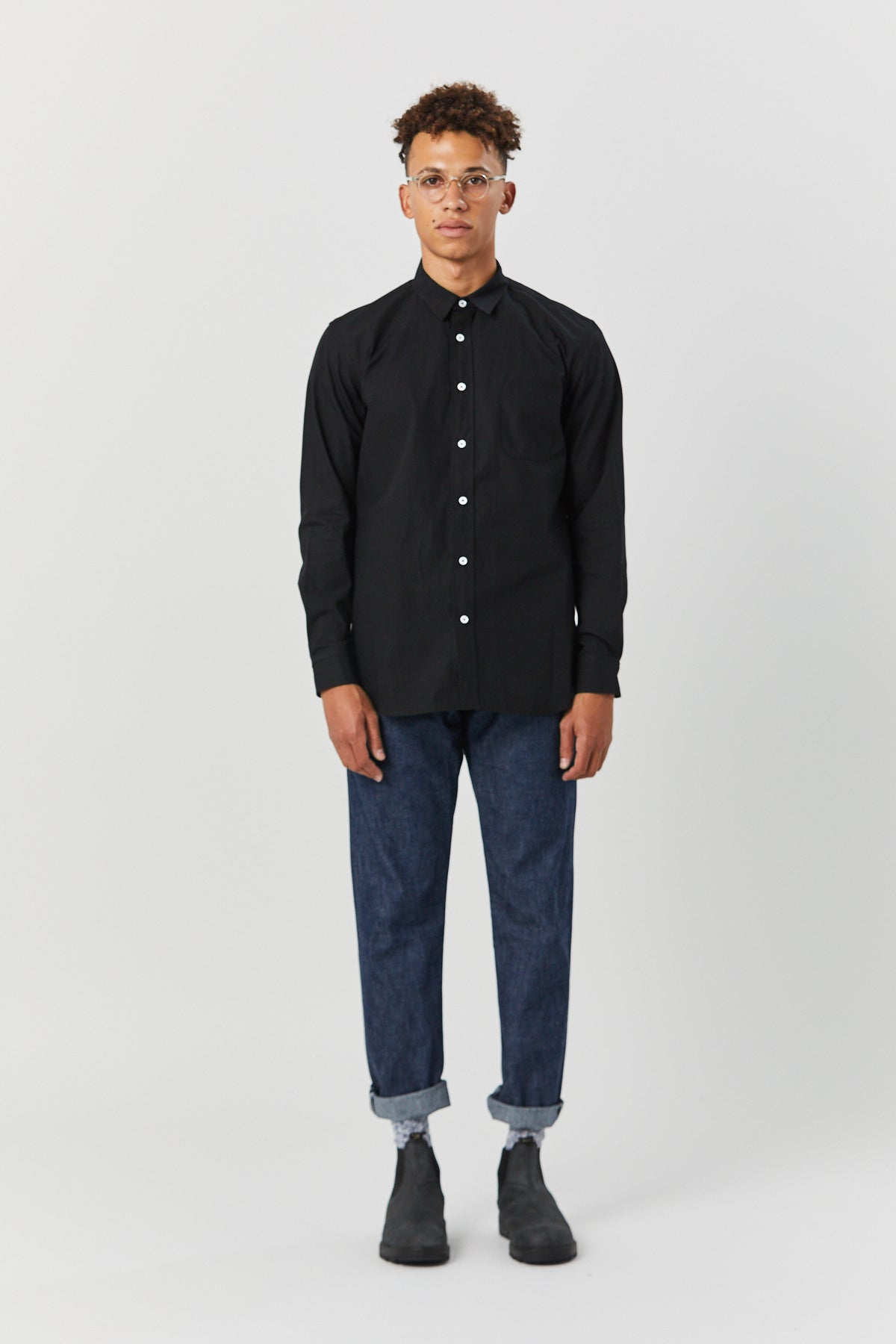 TYPEWRITER SHIRT IN BLACK - Fortune Goods