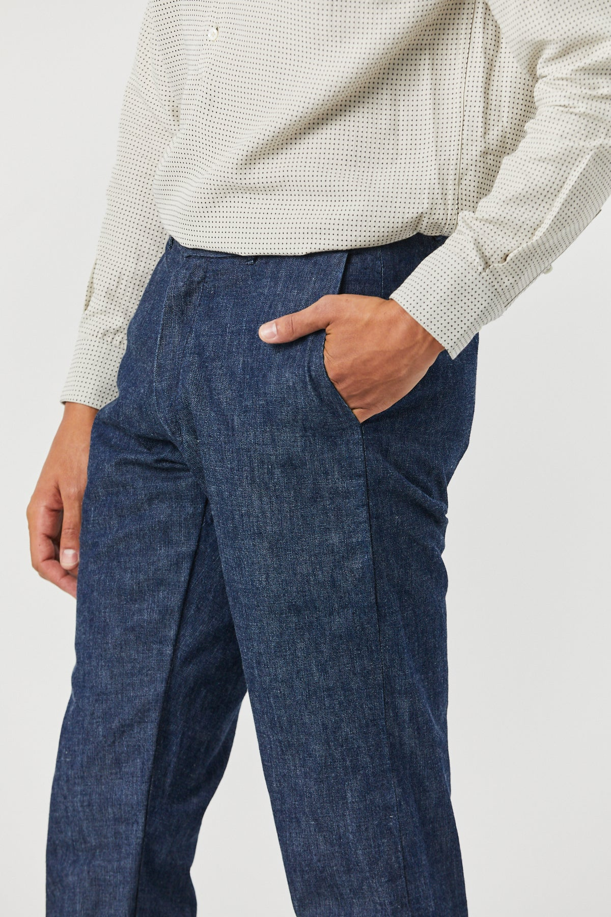 BRIGGS TROUSER IN SELVEDGE DENIM - Fortune Goods