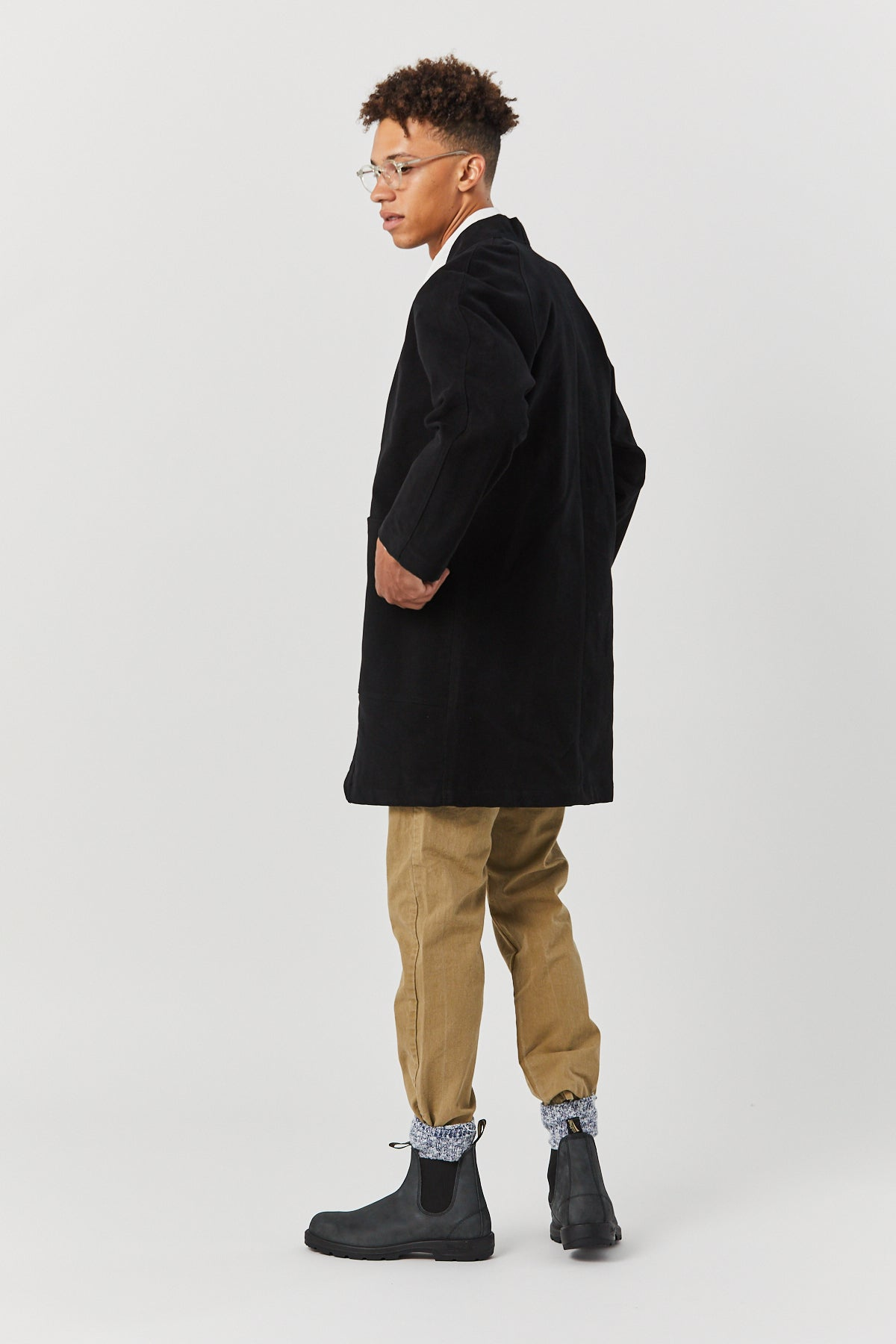 WEST VILLAGE ROBE IN BLACK - Fortune Goods
