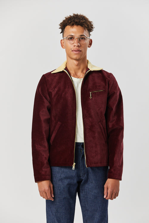 DETROIT JACKET IN MAROON - Fortune Goods