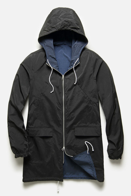 REVERSIBLE PARKA IN NAVY / BLACK RIPSTOP - Fortune Goods