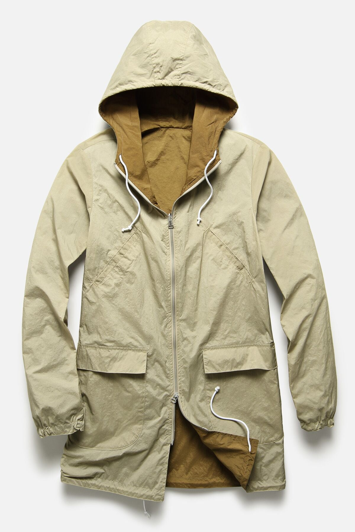 REVERSIBLE PARKA IN TAN / CINAMMON RIPSTOP - Fortune Goods
