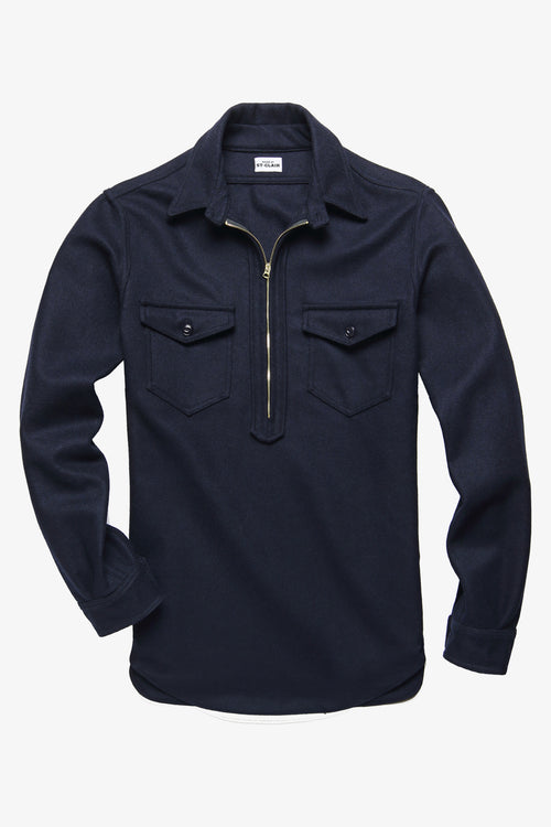 PACKARD ZIP PULLOVER IN NAVY - Fortune Goods