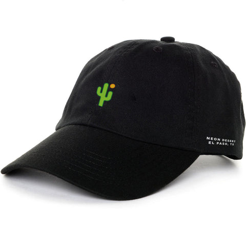 Cactus Dad Hat - Black