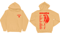 Tan Skeleton Angel Lineup Hoodie