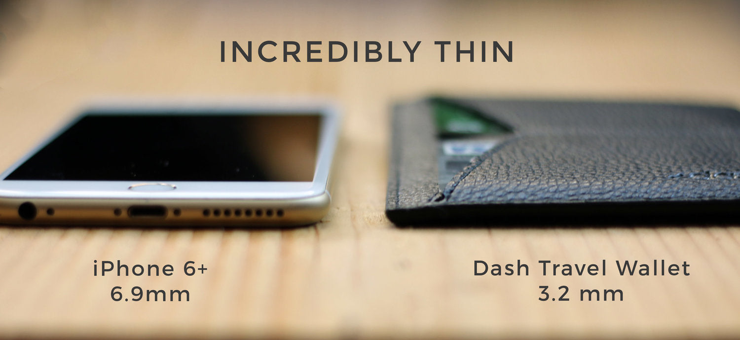 Incredibly slim thin leather travel wallets