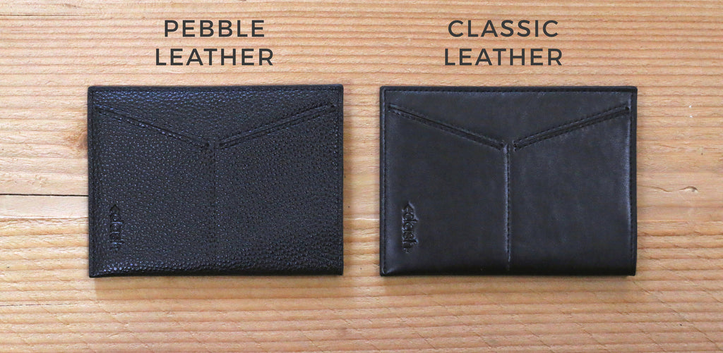 Classic Leather and Pebble Travel Passport Wallets