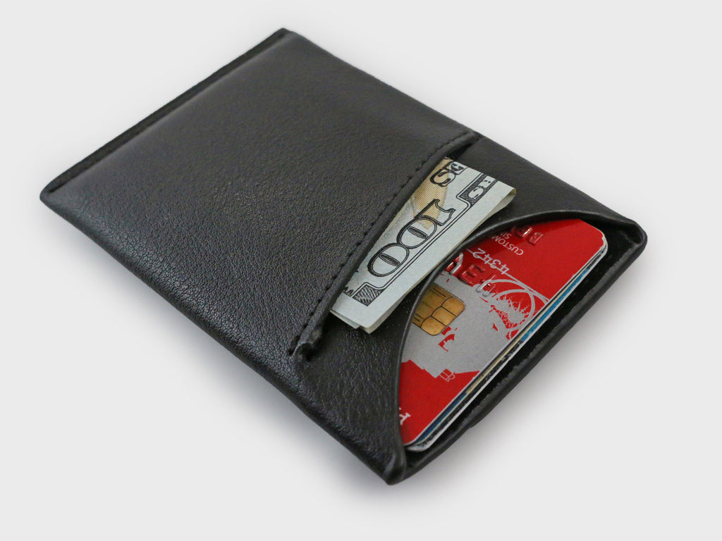 3.0 Veg-Tanned Slim Wallet - Black