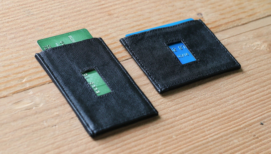 Thin Elastic Card Holder Leather Wallets