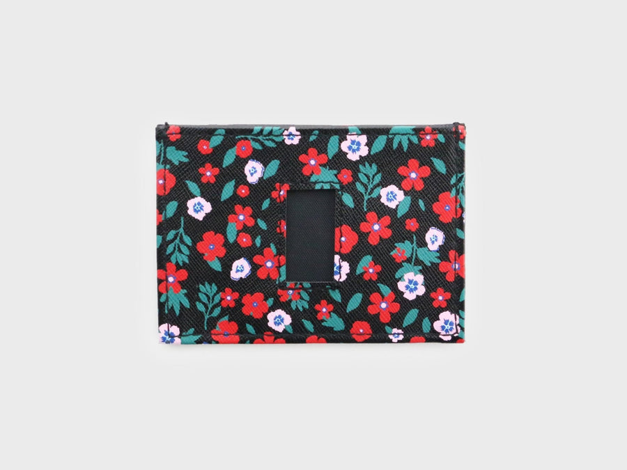 Floral Design Slim Wallets for Men