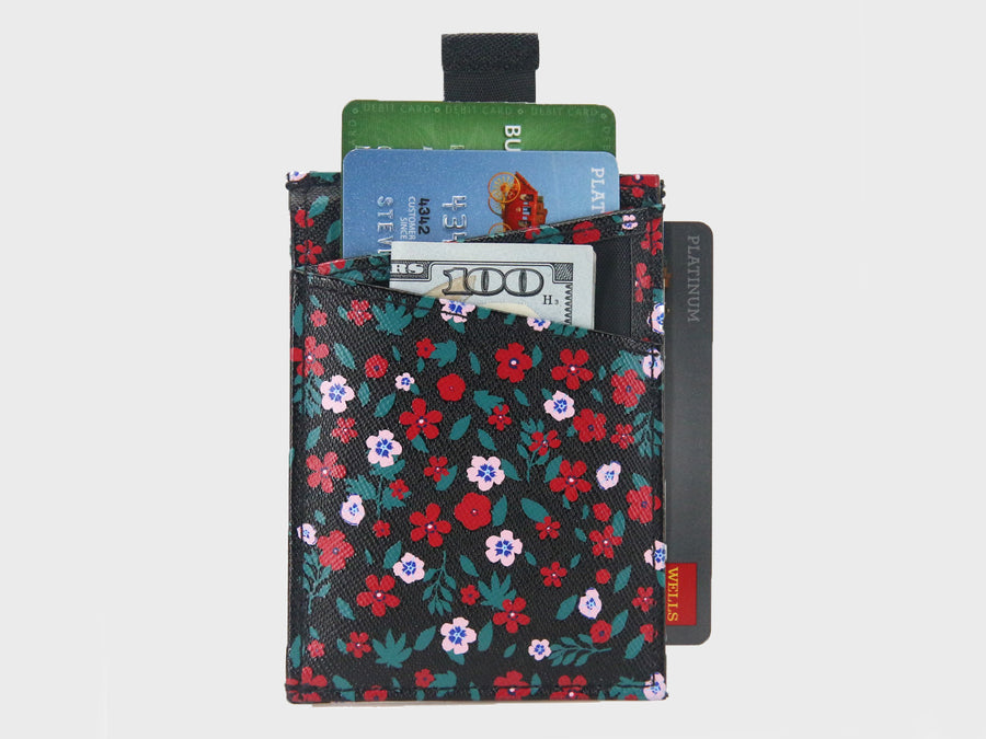 Floral Design Credit Card Holder Wallets