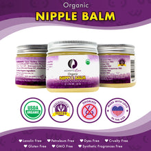 Organic Nipple Balm for Breastfeeding Relief (2 oz Jar) / Pediatrician Tested