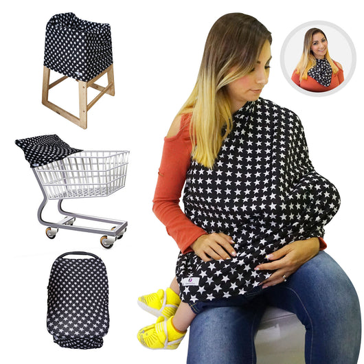 4 in 1 Multi Use Nursing Stretchy Cover