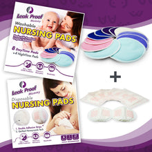 Leak Proof Mommy Bundle | Washable & Disposable Nursing Pads Kit for every situation, whether at home or on the go