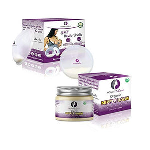 Breast Feeding Essentials KIT. Breast Shell & Milk Catcher + Nipple Cream for Breastfeeding Relief