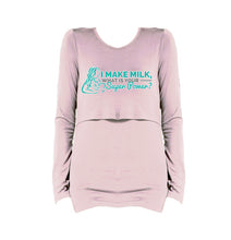 I Make Milk 2 Long Sleeve Breastfeeding T-Shirt