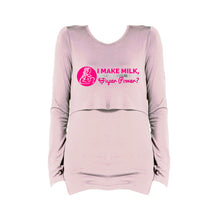 I Make Milk Long Sleeve Breastfeeding T-Shirt