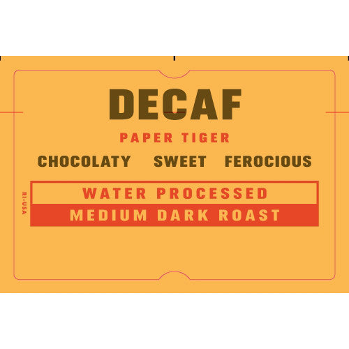 Decaf Paper Tiger Coffee Gift Subscription
