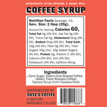 Load image into Gallery viewer, Original Coffee Syrup (16oz)