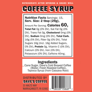 Original Coffee Syrup (8oz)