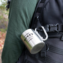 Load image into Gallery viewer, Carabiner Stainless Steel Adventure Mug