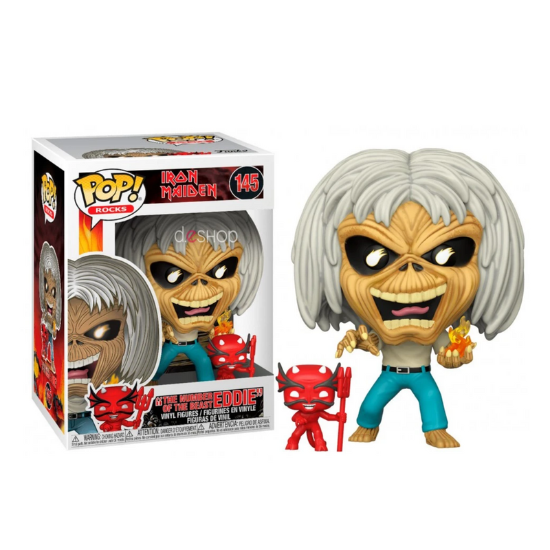 EDDIE THE NUMBER OF THE BEAST  IRON MAIDEN -FUNKO POP