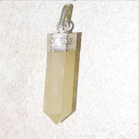 Yellow Agate Mini Point Pendant | New Earth Gifts