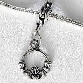 Claddagh Large Hole Dangling Charm | New Earth Gifts