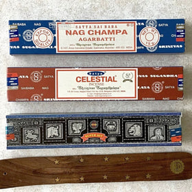 Incense 3 pc Variety Set for Meditation and Peaceful Home - New Earth Gifts and Beads