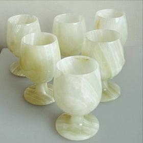 Onyx Goblet 6-pc Set | New Earth Gifts