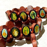Saints Wood Bracelets - Lot of 9 - New Earth Gifts