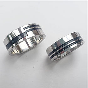 Stainless Steel Ring-Abstract Pattern | New Earth Gifts