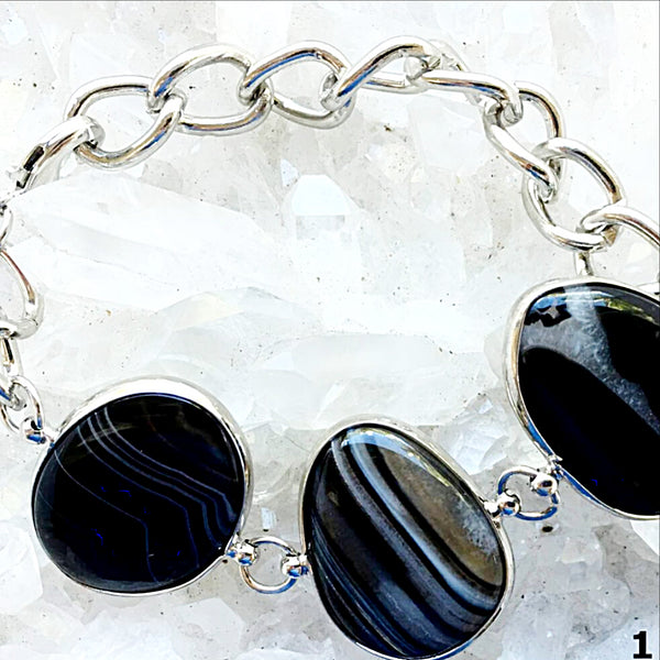 Boswana Brown Agate Bangle Bracelet -New Earth Gifts