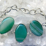 Green Agate Bangle Bracelet - New Earth Gifts