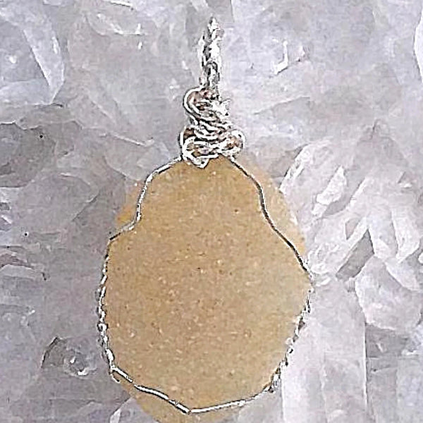 Agate Druzy Pendant - Peach Agate From Botswana For Sale New Earth Gifts