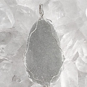 Agate Druzy Pendant - Gray Agate For Healing For Sale New Earth Gifts