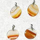 Agate Disk Pendants - New Earth Gifts
