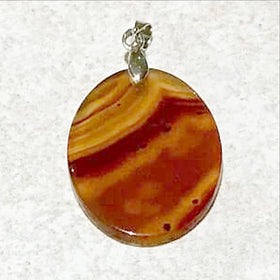 Agate Oval Disk Pendant - New Earth Gifts