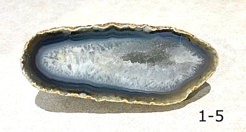 Agate Geode - Unusual Shape with Crystal Cavity - New Earth Gifts