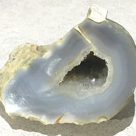 Agate Geode - Small Natural Geode with Crystals - New Earth Gifts