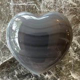 Gray Agate Heart - New Earth Gifts and Beads