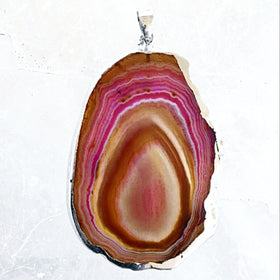Agate Slice Earth Tone Pendant - New Earth Gifts