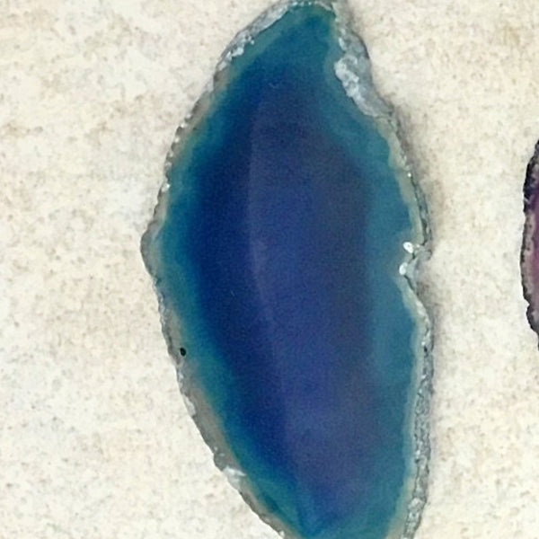 Polished Agate Teal Slices 3 Inches - New Earth Gifts