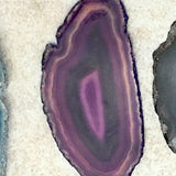 Polished Agate Purple Slices 3 Inches - New Earth Gifts