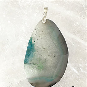 Agate Oval Faceted Large Pendant - New Earth Gifts