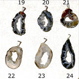 Agate Geode Slice Pendants Style 19-24 - New Earth Gifts and Beads