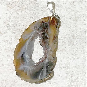 Agate Geode Slice Pendants -  New Earth Gifts