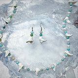 Amazonite Beads and Fresh Water Pearl Necklace Set - New Earth Gifts and Beads